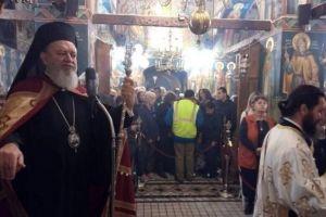 Με λαμπρότητα πανηγύρισε η Ιερά Μονή Οσίου Δαυίδ στην Εύβοια