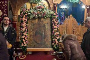Η εικόνα της Παναγίας της Παντανασσας απο την Αργολίδα στην Μητρόπολη Κηφισιάς