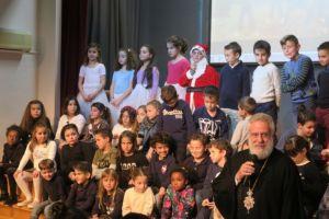Ο Μητροπολίτης Σύρου παρέστη στη Χριστουγεννιάτικη εορτή του Σχολείου της Αδελφότητος Δελασάλ
