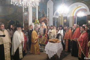 Πανηγυρικός εσπερινός στην Ιερά Μονή της Αγίας Βαρβάρας Σύρου