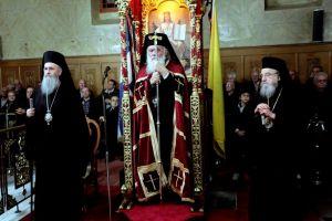 Ο Αρχιεπίσκοπος στην Αμφιλοχία για τον εορτάζοντα Ναό του Αγίου Αθανασίου