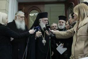 Αυστηρός αλλά συγκρατημένος ο Αρχιεπίσκοπος για  το θέμα της ονομασίας των Σκοπίων. ••Επιστολή στον Πρωθυπουργό απέστειλε η ΔΙΣ.