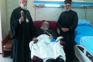 Ο Πατριάρχης Αλεξανδρείας Θεόδωρος  επισκέφθηκε στο Νοσοκομείο τον Αρχιεπίσκοπο Σινά Δαμιανό