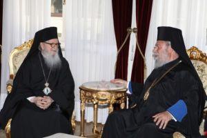 Η Εκκλησία της Κύπρου τιμά τον Αρχιεπίσκοπο Αμερικής Δημήτριο.