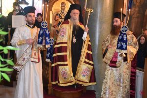 Κυριακή της Τυρινής στην Ιερά Μητρόπολη Μεγάρων και Σαλαμίνος, με Θεία Λειτουργία και Χειροτονία Πρεσβυτέρου.