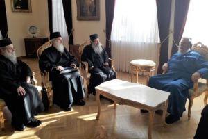 Συνάντηση Κύπρου Χρυσοστομόμου με τον Καθηγούμενο της Μονής Σίμωνος Πέτρας Αρχιμ. Ελισαίο