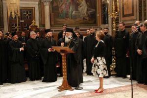 """Ο Αρχιεπίσκοπος στην παρουσίαση του τόμου """"Μεταξύ Αθηνών και Εσχάτων"""""""