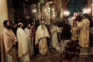 Στον εορτάζοντα I. Ναό Αγίου Τρύφωνος Βυτίνας ο Αρχιεπίσκοπος Ιερώνυμος