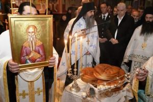Κατανυκτικός εορτασμός του Αγίου Χαραλάμπους στην Ιερά Μονή Αγίου Στεφάνου Μετεώρων