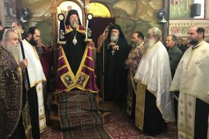 Ο Επίσκοπος Ανδρούσης Κωνστάντιος στον Β΄ Κατανυκτικό Εσπερινό στον Πύργο