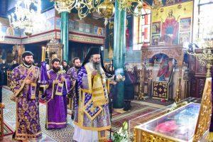 Προηγιασμένη Θ. Λειτουργία στην κωμόπολη της Όσσης της Ι. Μητρόπολης Λαγκαδά, από τον Μητροπολίτη Κίτρους Γεώργιο