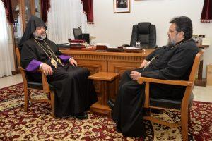 Στον Μητροπολίτη Μεσσηνίας Χρυσόστομο, ο Αρχιεπίσκοπος Αρμενίων Ελλάδος