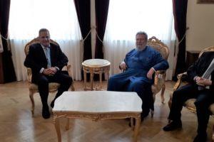 Στον Αρχιεπίσκοπο Κύπρου ο νέος Υπουργός Παιδείας Κύπρου και ο Αρχηγός της Αστυνομίας