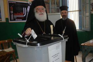 Το εκλογικό του δικαίωμα άσκησε ο Πατριάρχης Αλεξανδρείας