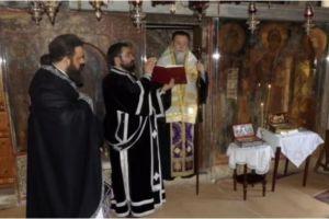 Ι.Μ. Κορίνθου: Προηγιασμένη Θ. Λειτουργία στην Ι. Μονή Αγ. Παταπίου Λουτρακίου