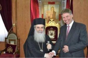 Ο Πατριάρχης Ιεροσολύμων Θεόφιλος ενημέρωσε τον Πρόξενο της Μεγ.Βρετανίας