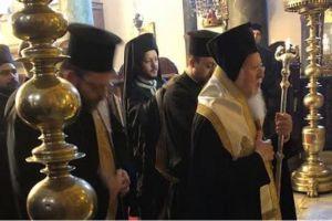 Τρισάγιο του Οικουμενικού Πατριάρχη για τον μακαριστό Πατριάρχη Ιεροσολύμων Βενέδικτο