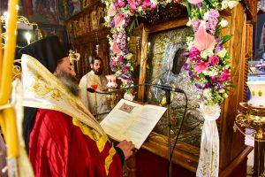 Ο Σεβασμιώτατος Μητροπολίτης Λαγκαδά, Λητής και Ρεντίνης κ.κ. Ιωάννης, μετέβεις εις τον ενοριακό Ιερό Ναό της Ζωοδόχου Πηγής Ασκού