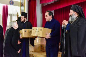 Η Ιερά Μητρόπολη Λαγκαδά, Λητής και Ρεντίνης σε συνεργασία με τον Φιλανθρωπικό Οργανισμό της Ιεράς Αρχιεπισκοπής Αθηνών «Αποστολή», διένειμε Δέματα αγάπης.