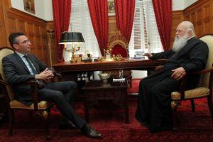 Συνάντηση με τον Διευθύνοντα Σύμβουλο της «Παπαστράτος» είχε ο Αρχιεπίσκοπος