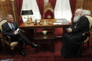 Συνάντηση Αρχιεπισκόπου Αθηνών με το νέο Πρέσβη του Λουξεμβούργου