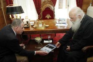 Ευχαριστίες και σέβη υπέβαλε ο Γιάννης Μουζάλας προς τον Αρχιεπίσκοπο για την συνεργασία που είχαν