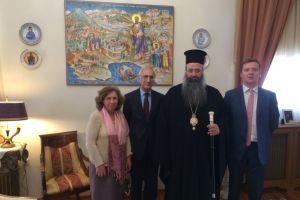Ο Γενικός Πρόξενος της Ρωσίας επισκέφθηκε τον Μητροπολίτη Κίτρους Γεώργιο