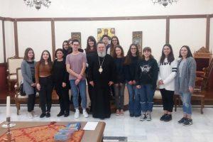 Επίσκεψη μαθητών στον Μητροπολίτη Χαλκίδος Χρυσόστομο
