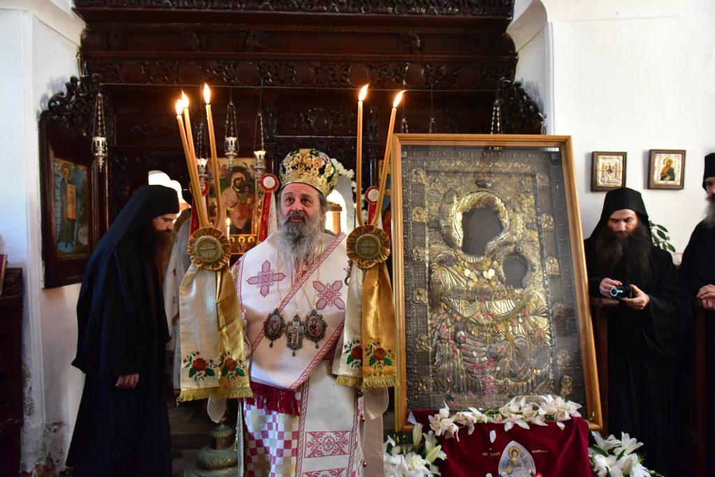 Την Τρίτη της Διακαινησίμου, εορτάσθηκε η  εύρεση της θαυματουργού εικόνος της Παναγίας της Πορταϊτίσσης, εις Tην Ιερά Πατριαρχική και Σταυροπηγιακή Μονή των Ιβήρων Αγίου Όρους
