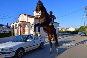 Άλογο έκλεψε την παράσταση στον Άγιο Γεώργιο Ήρας Άργους