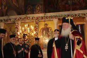 Ο Αρχιεπίσκοπος Ιερώνυμος στον Ι.Ν. Αγίου Γεωργίου Κυνοσάργους