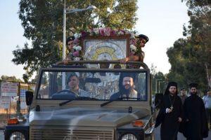 Συγκινητική υποδοχή της Θαυματουργού Εικόνος Παναγίας «Βουρλιωτίσσης» στην Κύπρο