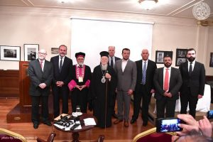 O Οικουμενικός Πατριάρχης παρέστη στην παρουσίαση του βιβλίου του κ.Γεωργίου Πηλιχού «Άουσβιτς-Έλληνες, αριθμός μελλοθανάτου»