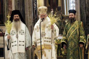 Κυριακή των Βαΐων στον Καθεδρικό Ναό Αθηνών προεξάρχοντος του Αρχιεπισκόπου Αθηνών Ιερωνύμου