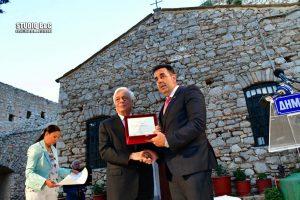 Ναύπλιο-Το βραβείο του Καποδίστρια στον Πρόεδρο της Δημοκρατίας.