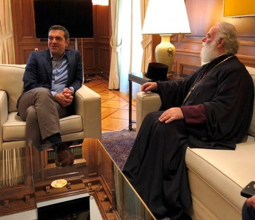 You are currently viewing Τον Πρωθυπουργό Αλέξη Τσίπρα επισκέφθηκε ο Πατριάρχης Αλεξανδρείας Θεόδωρος