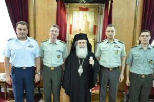 Ο Αρχηγός ΓΕΣ στον Πατριάρχη Ιεροσολύμων Θεόφιλο