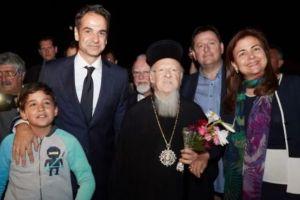 Στην Ιμβρο με τον Οικ.Πατριάρχη ο Κυριάκος Μητσοτάκης