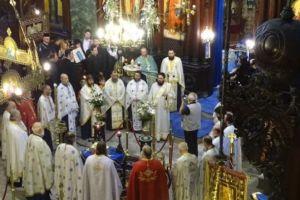 Αρχιερατικό Συλλείτουργο στον Αγιο Θεράποντα Μυτιλήνης