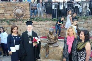 Αποκαλυπτήρια αγάλματος στην Ιμβρο από τον Οικουμενικό Πατριάρχη