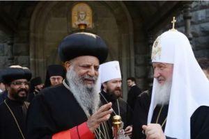 Ο Πατριάρχης Μόσχας Κύριλλος με τον επικεφαλή της Εκκλησίας της Αιθιοπίας