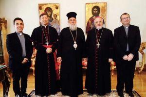 Επίσκεψη του Αποστολικού Νούντσιου στον Μητροπολίτη Κερκύρας Νεκτάριο