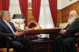 Συναντήσεις του Αρχιεπισκόπου με Γιώργο Πατούλη και Ευανθία Ρεμπούτσικα