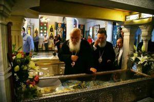 Προσκύνημα του Αρχιεπισκόπου Ιερωνύμου στη Μονή Οσίου Δαυίδ και στον τάφο του Οσίου Ιακώβου Τσαλίκη