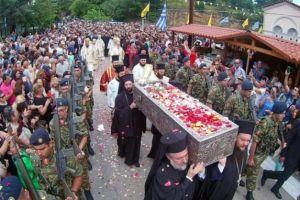 Μεγαλοπρεπής ο εορτασμός του Οσίου Ιωάννου του Ρώσσου στην Εύβοια- Πλήθη πιστών για τον θαυματουργό Όσιο!
