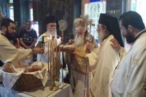Ο Καλαβρύτων Αμβρόσιος στο Ιερό Προσκύνημα Παναγίας Τρυπητής