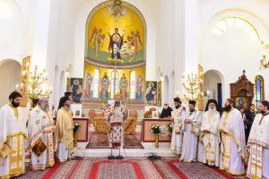 Ο Σεβασμιώτατος Μητροπολίτης Λαγκαδά, Λητής και Ρεντίνης κ.κ. Ιωάννης, χοροστάτησε του Όρθρου και προεξήρχε του Μυστηρίου της Θείας Ευχαριστίας, εις το Ιερό Ναό των Θεοφανείων, του Τιμίου Προδρόμου και της Αγίας Αναστασίας της Φαρμακολυτρίας