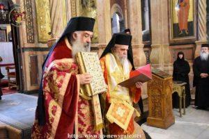 Ἡ εἰς Ἀρχιερέα χειροτονία τοῦ ἐψηφισμένου Ἀρχιεπισκόπου Κυριακουπόλεως στο Πατριαρχείο Ιεροσολύμων