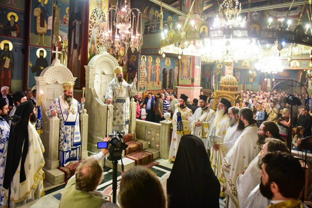 Η τελευταία Αγρυπνία της τελευταίας ημέρας της παραμονής παρουσίας του Τιμίου Σταυρού εκ του Ιερού Ναού των Αγίων Ισιδώρων Λυκαβηττού