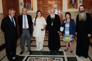 Συνάντηση Αρχιεπισκόπου με την Υπ. Πολιτισμού Λ. Κονιόρδου